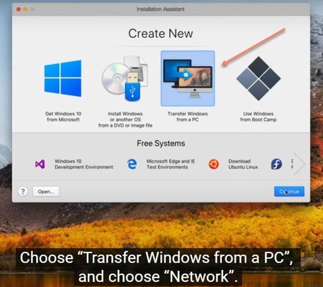 Transfering Windows from PC