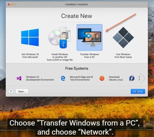 Transfering Windows from PC